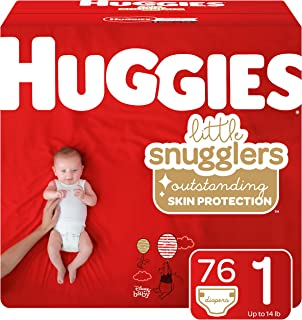Huggies Little Snugglers Baby Diapers, Size 1 (up to 14 Pound), 76 Count, Big Pack (Packaging May Vary)
