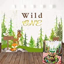 Mehofoto Wild One Backdrop Animal Forest Background Birthday Party Backdrops Party Photography Background Studio Props 7X5ft Vinyl Booth Banner Decoration