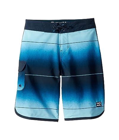 Billabong Kids 73 Stripe Pro Boardshorts (Big Kids) (Dark Blue) Boy