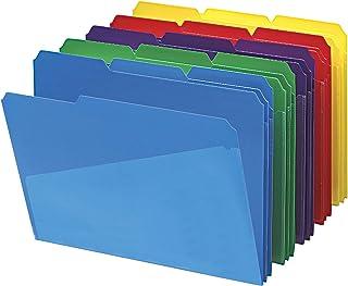 Smead Slash Pocket Poly File Folders 30 per Box Assortiment