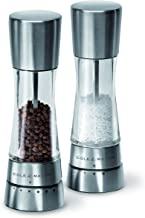 Cole & Mason H59408G 31224 Derwent Salt and Pepper Mill Gift Set, Clear/Silver