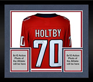 Framed Braden Holtby Washington Capitals Autographed Red Fanatics Breakaway Jersey - Fanatics Authentic Certified