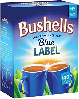 bushells blue label tea tin
