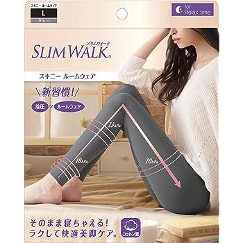ピップ スリムウォーク スキニールームウェア グレー L 着圧 SLIMWALK