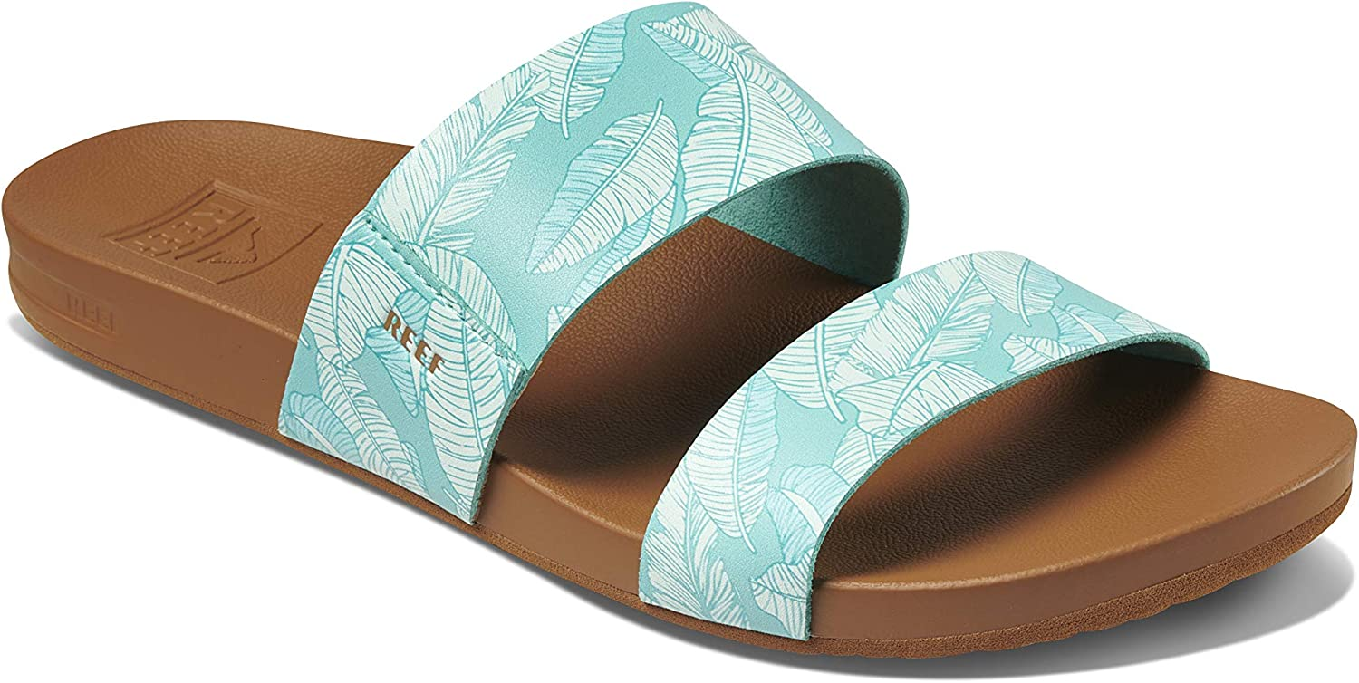 Reef Womens Sandals Vista Vegan low-pricing Women Slides for With Leather Regular store