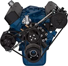 Black V-Belt System for Small Block Ford 289 & 302 Engines; AC Applications With NO Power Steering