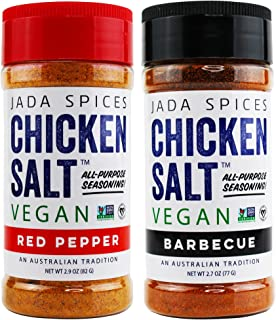 Chicken Salt - Vegan, Non-GMO, NO MSG, Gluten Free, Australia's #1 All-Purpose Seasoning (Red Pepper, BBQ)