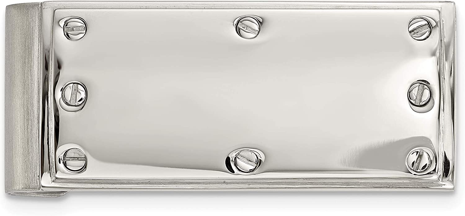 Stainless Steel Polished Screw Money Clip