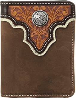 Ariat - Tooled Overlay Bi-Fold Wallet
