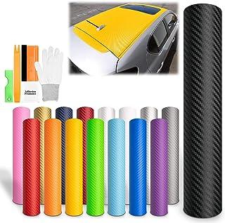 "EZAUTOWRAP Free Tool Kit Black 3D Carbon Fiber Textured Matte Car Vinyl Wrap Sticker Decal Film Sheet - 12""X60"" (1FT X 5FT)"