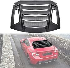 Yoursme Rear Window Louver Rain Sun Guard Cover Wind Deflector Black for Subaru BRZ Toyota 86 Scion FR-S 2012-2019