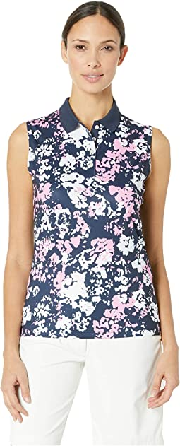 Digital Floral Printed Sleeveless Polo