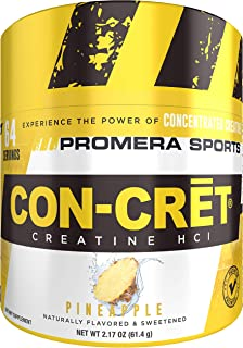 Promera Sports CON-CRET, The Original Patented Pure Creatine HCl for Boosting Performance, Endurance, and Strength, Pineapple, 64 Servings