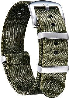 BINLUN ウォッチストラップ 厚いG10プレミアムバリスティックナイロン マルチカラー 交換用時計バンド ステンレススチールバックル付き 男女通用 道具付き 20色、4サイズ 18mm 20mm 22mm 24mm(最新改良バージョン)