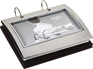 Silver Colour Free Standing Flip Album - Holds 50 of 6 x 4 inch Photos by Shudehill
