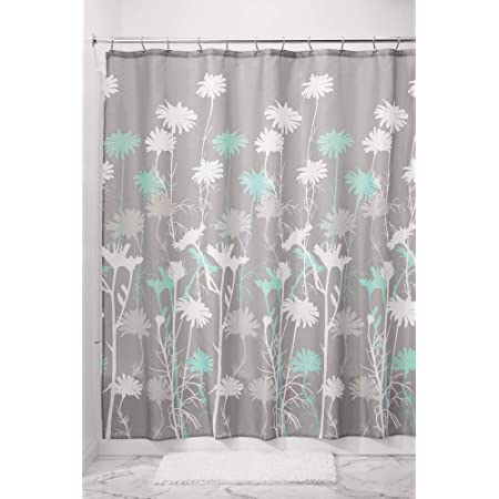 Amazon Com Anzona I Manggo Black Grey Green Dahlia Floral Pattern Shower Curtains 72x72 Inch Home Kitchen