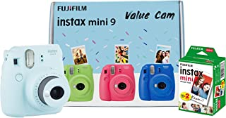Fujifilm Instax Mini 9 Value Cam Camera with 20 Film Shot Free (Ice Blue)