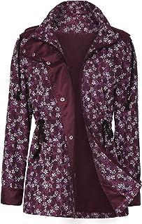 UUANG Raincoats Waterproof Rain Jacket Active Outdoor Detachable Hooded Windbreaker Women's Rain Coats
