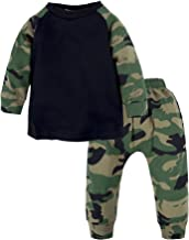 BIG ELEPHANT Baby Boys' 2 Piece Graphic Long Sleeve Tops Pants Clothing Set H91K13