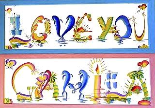 Names Creative Lettering Personalised Wallpaper Brush Art Gift Deco birthday gift plate Kids names