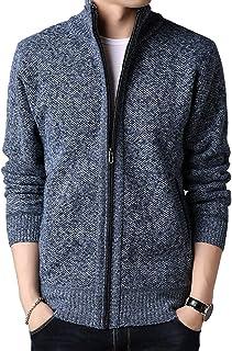 WSLCN casaco masculino outono inverno quente grosso zíper gola alta moletom moletom pulôver jaqueta cardigã para uso externo
