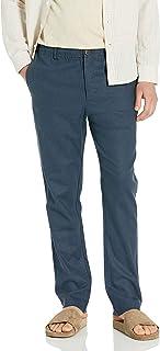 28 Palms Pantalón de Lino elástico con cordón. Pantalones Informales para Hombre