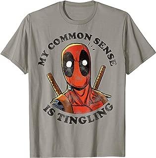 Deadpool Common Sense is Tingling Graphic T-Shirt