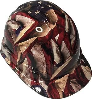 Hard Hat Ridgeline Cap Style Custom Respect American Flags High Gloss