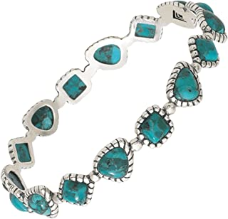 18 Silpada Pinwheel Posies Compressed Turquoise Triple Flower Pendant Necklace in Sterling Silver 2