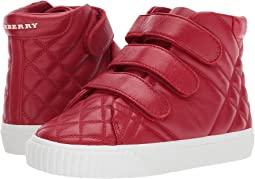 Burberry Kids - Quilted Leather High Top Trainers (Toddler/Little Kid)