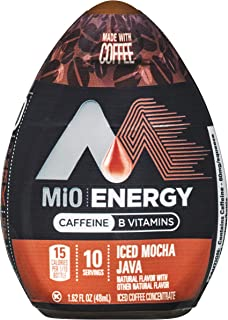 MiO Energy Iced Mocha Java Coffee Concentrate, Caffeinated, 1.62 fl oz Bottle