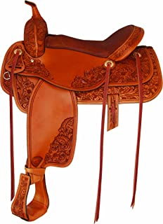 Tex Tan Mobile Western Trail Saddle 16In Russet