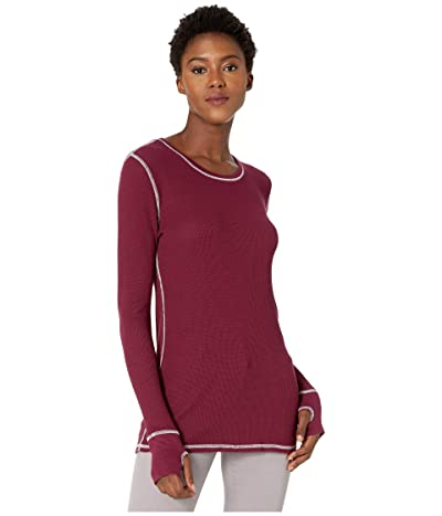 Mod-o-doc Thermal Long Sleeve Tee with Thumb-Holes (Fine Wine) Women