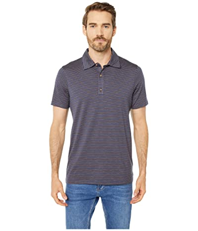 Toad&Co Tempo Short Sleeve Polo (True Navy Stripe) Men