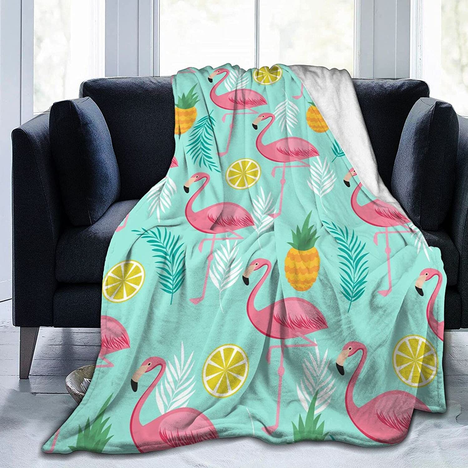 Popular brand in the world Pink Flamingo Blanket Shipping included Ultra-Soft Winter Fleece Sum Micro