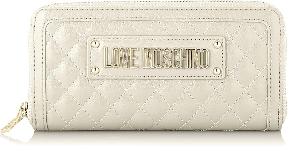 Love moschino quilted portafogli porta carte di credito in pelle sintetica JC5640PP07KA2