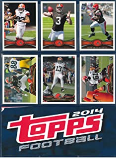 Cleveland Browns 2012, 2013, 2014 Topps Football complete team sets including Johnny Manziel Rookie Card (RC) shipped in an acrylic case. All 3 sets ship in September after 2014 Topps Football is released. Includes Manziel, Josh Gordon, Trent Richardson and many more.