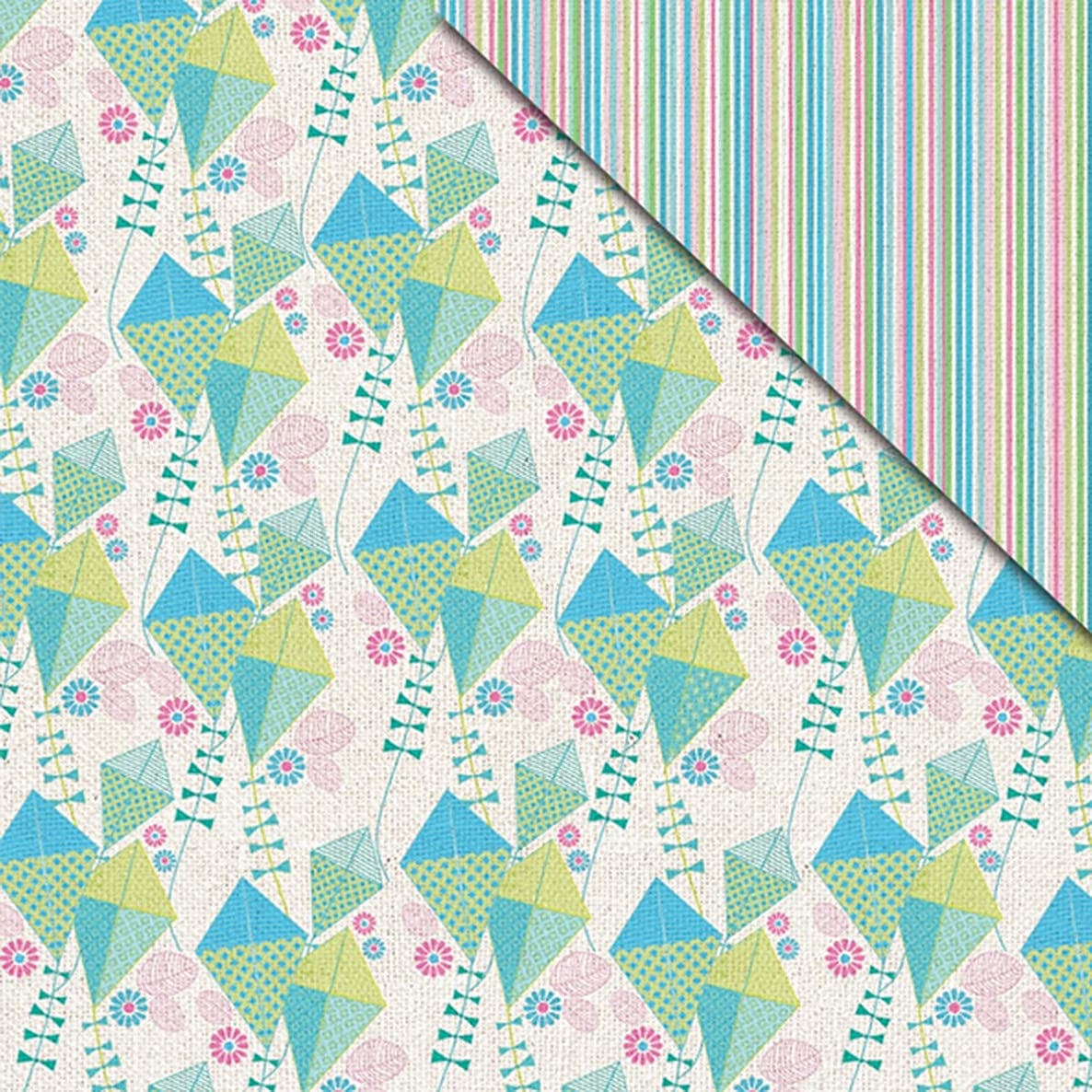 FabScraps C83 003 Kaleidoscope Double-Sided Cardstock (25 Sheets Per Pack), 12