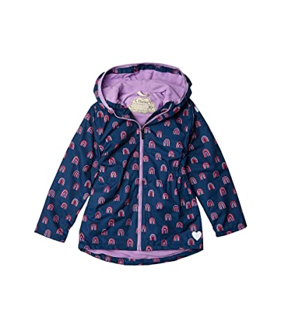 Hatley Kids Rainbow Party Microfiber Rain Jacket (Toddler/Little Kids/Big Kids) (Blue) Girl