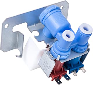 Ultra Durable WR57X10051 Refrigerator Dual Inlet Water Valve Replacement part by Blue Stars - Exact Fit for GE Kenmore Hotpoint Refrigerators - Replaces AP3672839 WR02X10105 WR2X10105