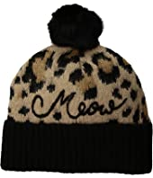 Kate Spade New York - Brushed Leopard Beanie with Pom