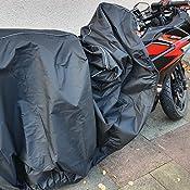 Mycover Premium Motorrad Abdeckplane In 3 Größen Stärkstes 300d Material Wasserdicht Und Atmungsaktiv Outdoor Abdeckung Mit Kennzeichen Fenster Für Moped Roller Und Mofa Größe L Auto