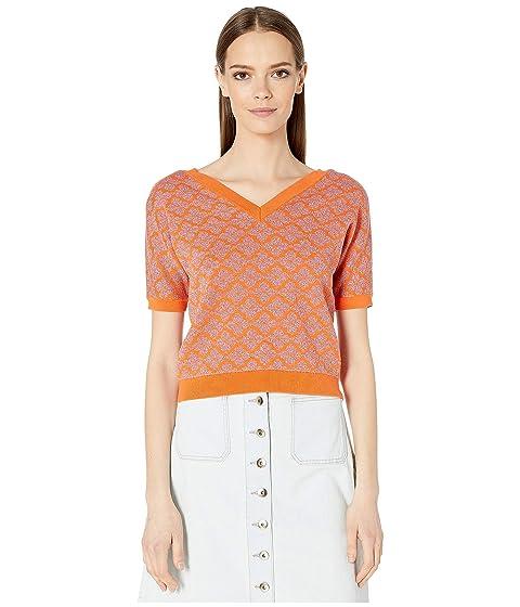 Kate Spade New York Floral Spade V-Neck Sweater