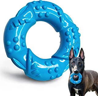 EASTBLUE Dog Chew Toy for Aggressive Chewers: Ultra-Tough Natural Rubber Puppy Chew Toy Nearly Indestructible for Medium a...