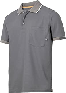 Snickers Hommes Classique Polo Vert Olive Manches Courtes Chemise Travail Taille S