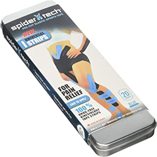 Spidertech Universal I Strip 20 Pack (Tin) Blue Kinesiology Tape