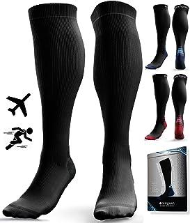 Compression Socks for Men & Women (20-30 mmHg) - Anti DVT Stockings - Swollen Legs - Varicose Veins - Edema - Running - Sp...