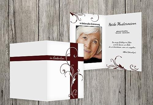 precio razonable Sterbe imágenes flores Cruz, dunklesrojopúrpura, 40 40 40 Karten  protección post-venta