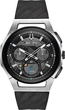 Bulova Men's 44mm CURV Collection Silvertone Chronograph Watch