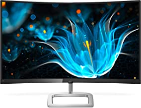 "Philips 328E9FJAB 32"" Curved Frameless Monitor, Quad HD 2K, 122.6% sRGB, FreeSync, VESA (Renewed)"